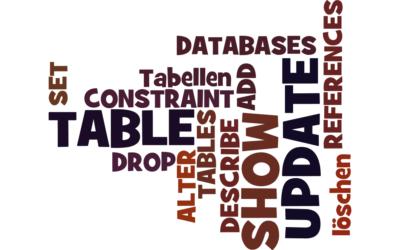 6. UPDATE – Tabellen analysieren und ändern